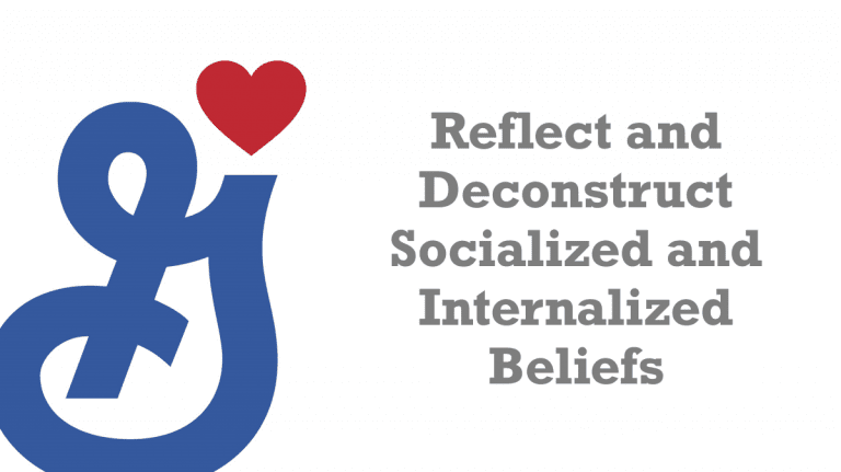 Reflect and Deconstruct Socialized and Internalized Beliefs
