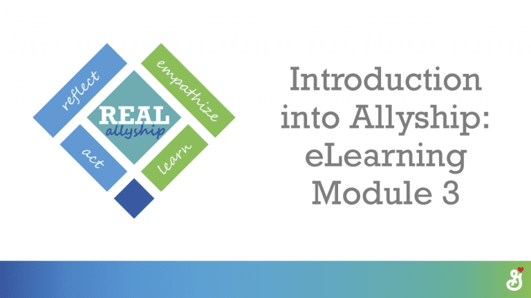 Introduction into Allyship: eLearning Module 3